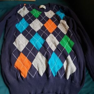 The children place sweater